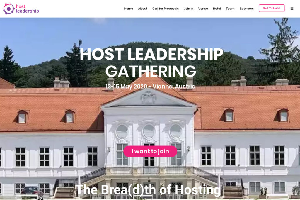 Host Leadership Gathering 2020 Wien